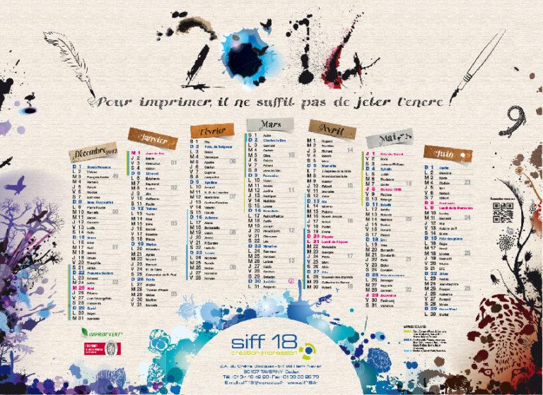 Calendrier SIFF18 - 2014